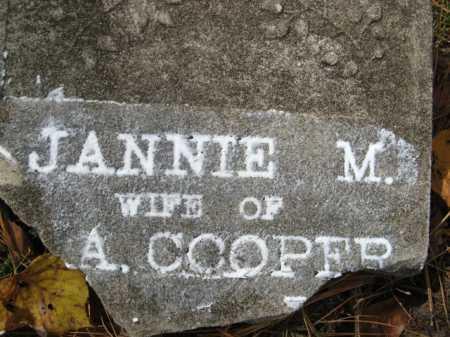 COOPER, JANNIE M. (CLOSEUP) - Hempstead County, Arkansas | JANNIE M. (CLOSEUP) COOPER - Arkansas Gravestone Photos