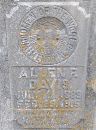DAVIS, ALLEN F. (CLOSEUP) - Hempstead County, Arkansas   ALLEN F. (CLOSEUP) DAVIS - Arkansas Gravestone Photos