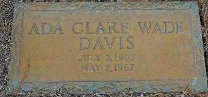 DAVIS, ADA CLARE - Hempstead County, Arkansas | ADA CLARE DAVIS - Arkansas Gravestone Photos
