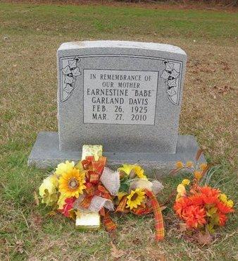 "DAVIS, EARNESTINE ""BABE"" - Hempstead County, Arkansas   EARNESTINE ""BABE"" DAVIS - Arkansas Gravestone Photos"