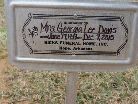 DAVIS, GEORGIA LEE - Hempstead County, Arkansas   GEORGIA LEE DAVIS - Arkansas Gravestone Photos
