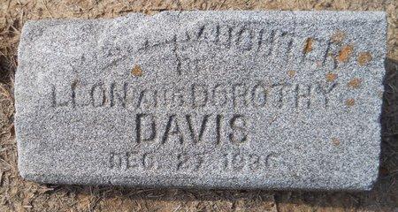 DAVIS, INFANT DAUGHTER - Hempstead County, Arkansas | INFANT DAUGHTER DAVIS - Arkansas Gravestone Photos