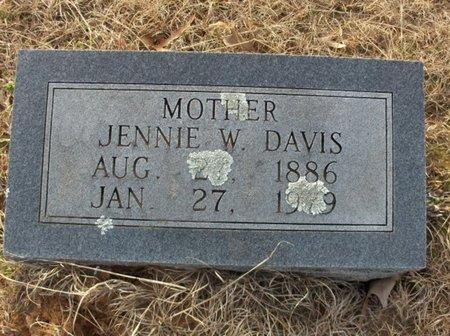 DAVIS, JENNIE W - Hempstead County, Arkansas | JENNIE W DAVIS - Arkansas Gravestone Photos