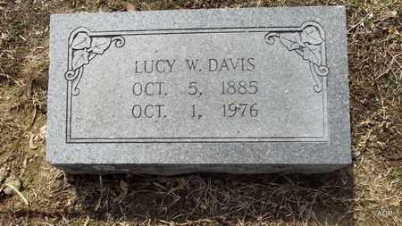 DAVIS, LUCY W - Hempstead County, Arkansas | LUCY W DAVIS - Arkansas Gravestone Photos