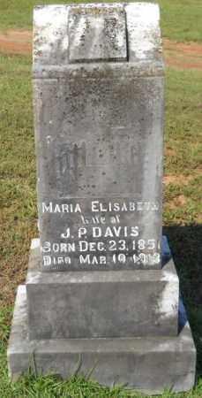 DAVIS, MARIA ELIZABETH - Hempstead County, Arkansas   MARIA ELIZABETH DAVIS - Arkansas Gravestone Photos