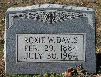 DAVIS, ROXIE W - Hempstead County, Arkansas | ROXIE W DAVIS - Arkansas Gravestone Photos