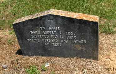 DAVIS, R T - Hempstead County, Arkansas   R T DAVIS - Arkansas Gravestone Photos