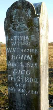 FRAZIER, LUTITIA E - Hempstead County, Arkansas | LUTITIA E FRAZIER - Arkansas Gravestone Photos