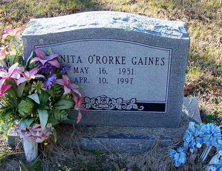 O'RORKE GAINES, ANITA - Hempstead County, Arkansas | ANITA O'RORKE GAINES - Arkansas Gravestone Photos
