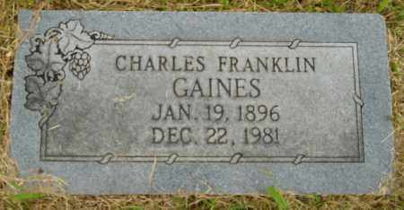 GAINES, CHARLES FRANKLIN - Hempstead County, Arkansas | CHARLES FRANKLIN GAINES - Arkansas Gravestone Photos