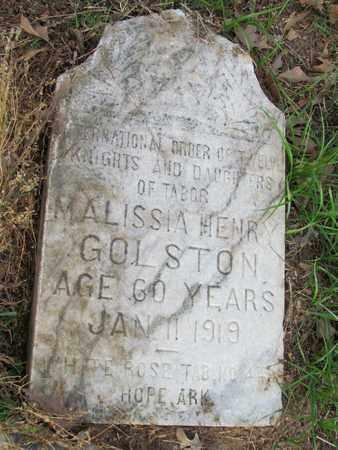GOLSTON, MALISSA - Hempstead County, Arkansas   MALISSA GOLSTON - Arkansas Gravestone Photos