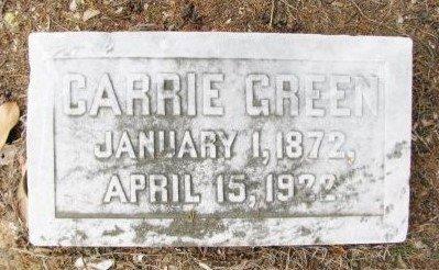 GREEN, CARRIE - Hempstead County, Arkansas   CARRIE GREEN - Arkansas Gravestone Photos