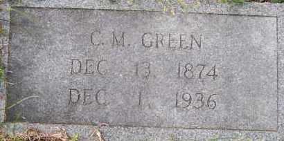 GREEN, C M - Hempstead County, Arkansas   C M GREEN - Arkansas Gravestone Photos