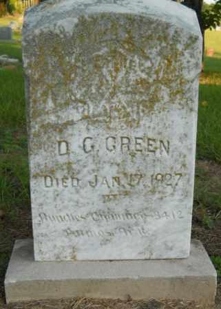GREEN, D. G. - Hempstead County, Arkansas   D. G. GREEN - Arkansas Gravestone Photos