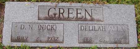 "GREEN, D N ""NICK"" - Hempstead County, Arkansas | D N ""NICK"" GREEN - Arkansas Gravestone Photos"