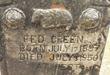 GREEN, FED (CLOSEUP) - Hempstead County, Arkansas | FED (CLOSEUP) GREEN - Arkansas Gravestone Photos