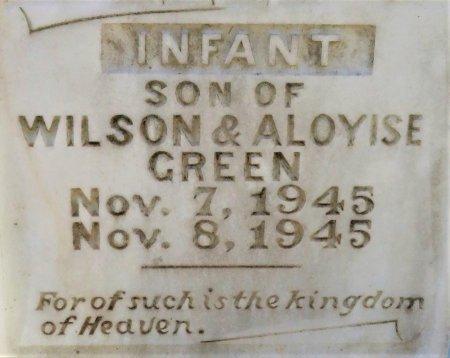 GREEN, INFANT SON (CLOSEUP) - Hempstead County, Arkansas | INFANT SON (CLOSEUP) GREEN - Arkansas Gravestone Photos