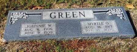 GREEN, MYRTLE O - Hempstead County, Arkansas | MYRTLE O GREEN - Arkansas Gravestone Photos