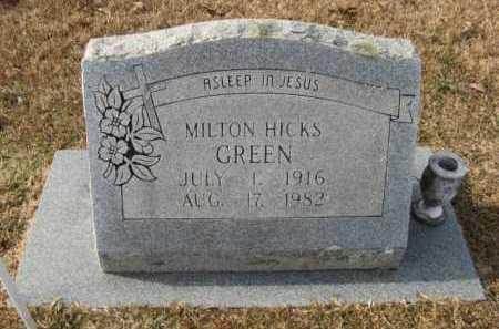 GREEN, MILTON HICKS - Hempstead County, Arkansas | MILTON HICKS GREEN - Arkansas Gravestone Photos