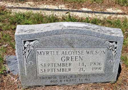 GREEN, MYRTLE ALOYISE - Hempstead County, Arkansas   MYRTLE ALOYISE GREEN - Arkansas Gravestone Photos