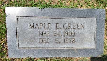 GREEN, MAPLE E. - Hempstead County, Arkansas   MAPLE E. GREEN - Arkansas Gravestone Photos