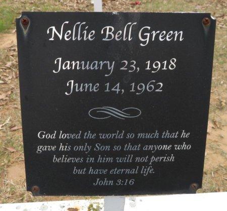 GREEN, NELLIE BELL (CLOSEUP) - Hempstead County, Arkansas | NELLIE BELL (CLOSEUP) GREEN - Arkansas Gravestone Photos