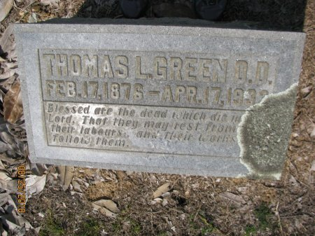 GREEN, THOMAS L., D.D. - Hempstead County, Arkansas | THOMAS L., D.D. GREEN - Arkansas Gravestone Photos
