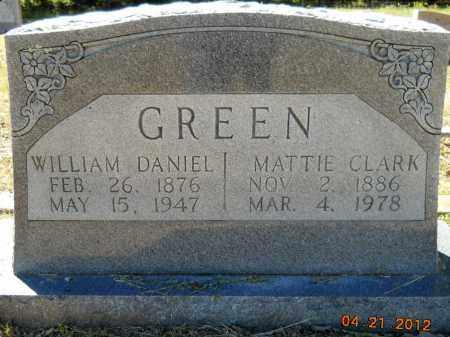 GREEN, WILLIAM DANIEL - Hempstead County, Arkansas | WILLIAM DANIEL GREEN - Arkansas Gravestone Photos