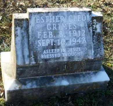 GRIMES, ESTHER CLEO - Hempstead County, Arkansas | ESTHER CLEO GRIMES - Arkansas Gravestone Photos