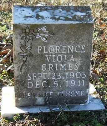 GRIMES, FLORENCE VIOLA - Hempstead County, Arkansas | FLORENCE VIOLA GRIMES - Arkansas Gravestone Photos