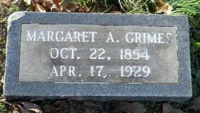 GRIMES, MARGARET A - Hempstead County, Arkansas | MARGARET A GRIMES - Arkansas Gravestone Photos