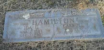 HAMILTON, CARROLL E - Hempstead County, Arkansas | CARROLL E HAMILTON - Arkansas Gravestone Photos