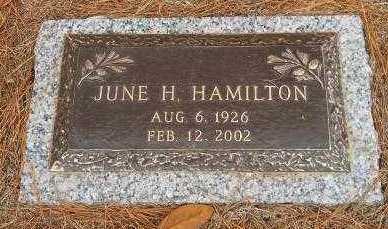 HAMILTON, JUNE H - Hempstead County, Arkansas | JUNE H HAMILTON - Arkansas Gravestone Photos