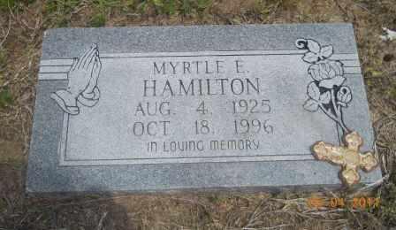 HARRIS HAMILTON, MYRTLE E - Hempstead County, Arkansas | MYRTLE E HARRIS HAMILTON - Arkansas Gravestone Photos