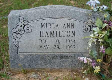 HAMILTON, MIRLA ANN - Hempstead County, Arkansas   MIRLA ANN HAMILTON - Arkansas Gravestone Photos