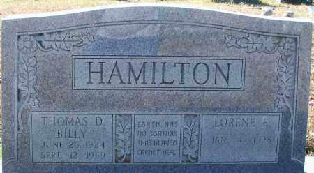 """HAMILTON, THOMAS D """"BILLY"""" - Hempstead County, Arkansas   THOMAS D """"BILLY"""" HAMILTON - Arkansas Gravestone Photos"""