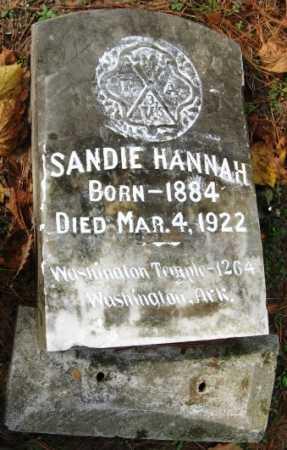 HANNAH, SANDIE - Hempstead County, Arkansas | SANDIE HANNAH - Arkansas Gravestone Photos