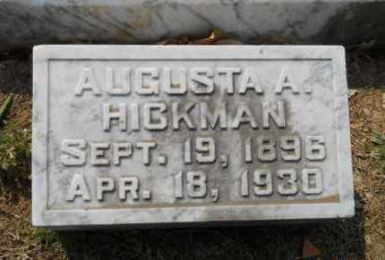 HICKMAN, AUGUSTA A - Hempstead County, Arkansas | AUGUSTA A HICKMAN - Arkansas Gravestone Photos