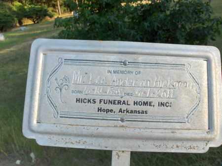 HICKMAN, LEE ANDERSON - Hempstead County, Arkansas | LEE ANDERSON HICKMAN - Arkansas Gravestone Photos