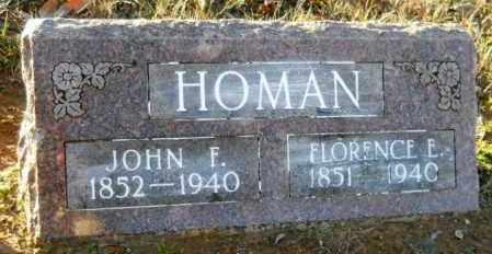 HOMAN, FLORENCE E - Hempstead County, Arkansas   FLORENCE E HOMAN - Arkansas Gravestone Photos