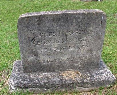 HOPSON, GILES - Hempstead County, Arkansas   GILES HOPSON - Arkansas Gravestone Photos