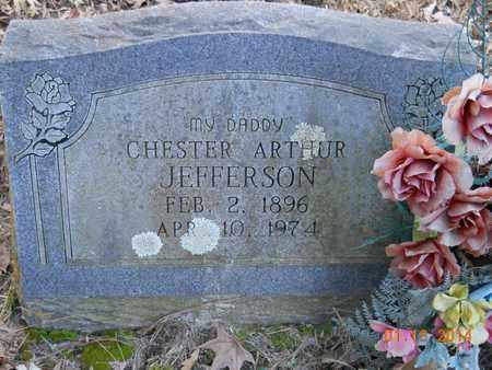 JEFFERSON, CHESTER ARTHUR - Hempstead County, Arkansas | CHESTER ARTHUR JEFFERSON - Arkansas Gravestone Photos
