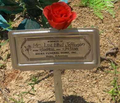 JEFFERSON, LUE ETHEL - Hempstead County, Arkansas | LUE ETHEL JEFFERSON - Arkansas Gravestone Photos
