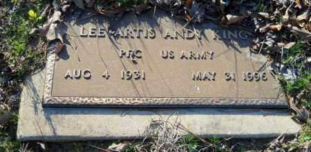 "KING (VETERAN), LEE ARTIS  ""ANDY"" - Hempstead County, Arkansas   LEE ARTIS  ""ANDY"" KING (VETERAN) - Arkansas Gravestone Photos"