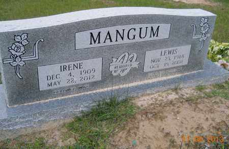 MANGUM, IRENE - Hempstead County, Arkansas | IRENE MANGUM - Arkansas Gravestone Photos