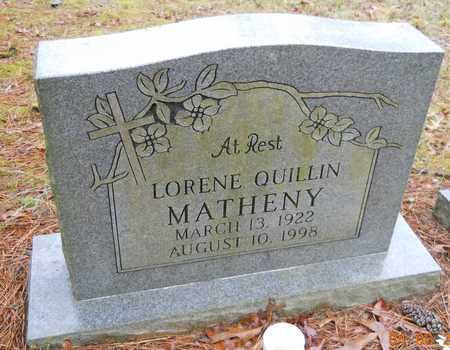 HUCKABEE QUILLIN, LORENE - Hempstead County, Arkansas | LORENE HUCKABEE QUILLIN - Arkansas Gravestone Photos