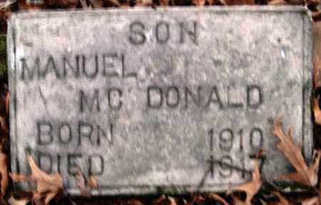 MCDONALD, MANUEL - Hempstead County, Arkansas   MANUEL MCDONALD - Arkansas Gravestone Photos