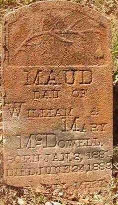 MCDOWELL, MAUD - Hempstead County, Arkansas | MAUD MCDOWELL - Arkansas Gravestone Photos