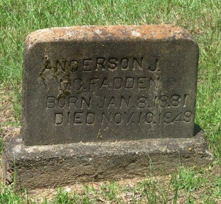 MCFADDEN, ANDERSON J. - Hempstead County, Arkansas   ANDERSON J. MCFADDEN - Arkansas Gravestone Photos