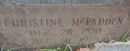 MCFADDEN, CHRISTINE (CLOSEUP) - Hempstead County, Arkansas   CHRISTINE (CLOSEUP) MCFADDEN - Arkansas Gravestone Photos